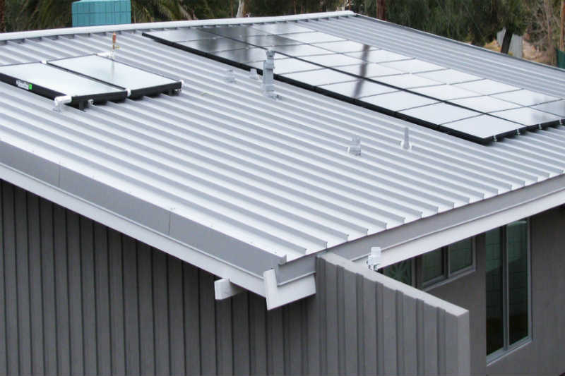 Solar Panels and Colorbond Roofing